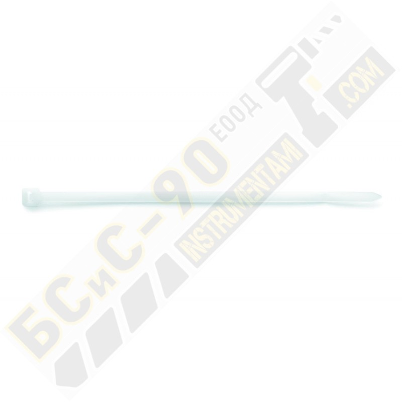 Бяла кабелна връзка - тип свинска опашка - 100 бр.