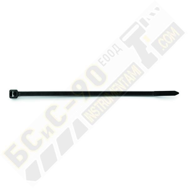 Черна кабелна връзка - тип свинска опашка - 100 бр.