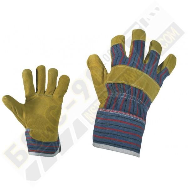 Ръкавици Цепена тележка кожа