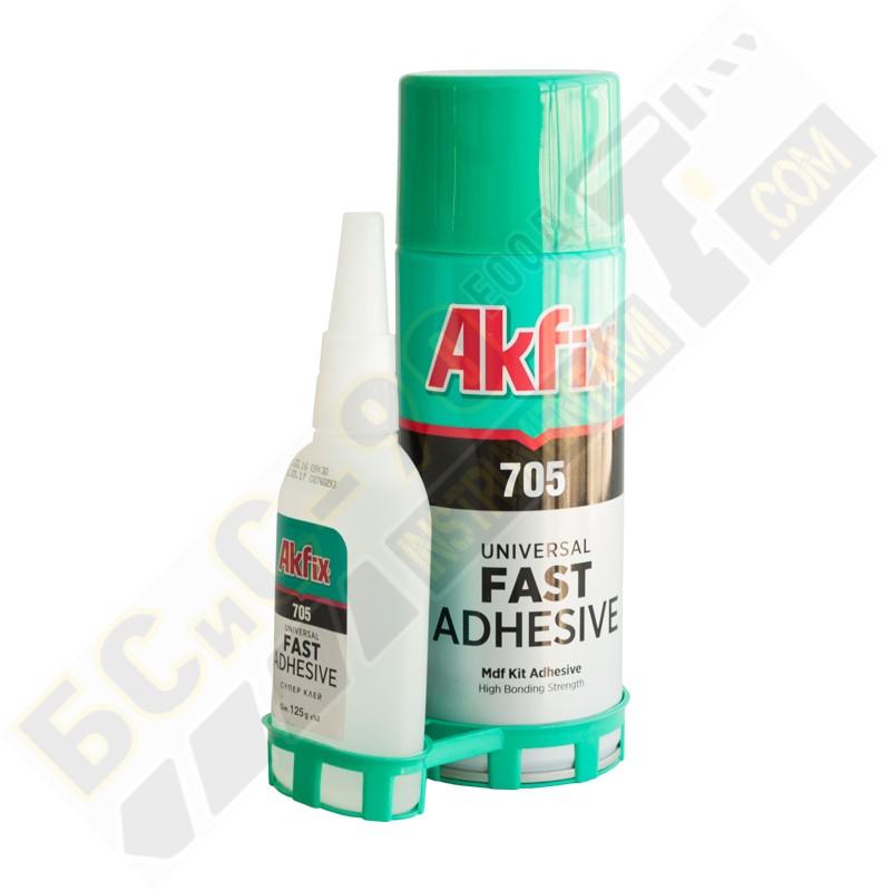 Лепило моментно AKFIX - 200мл + 65гр