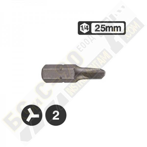 Накрайник 1/4 L25мм с три канала - 122S25