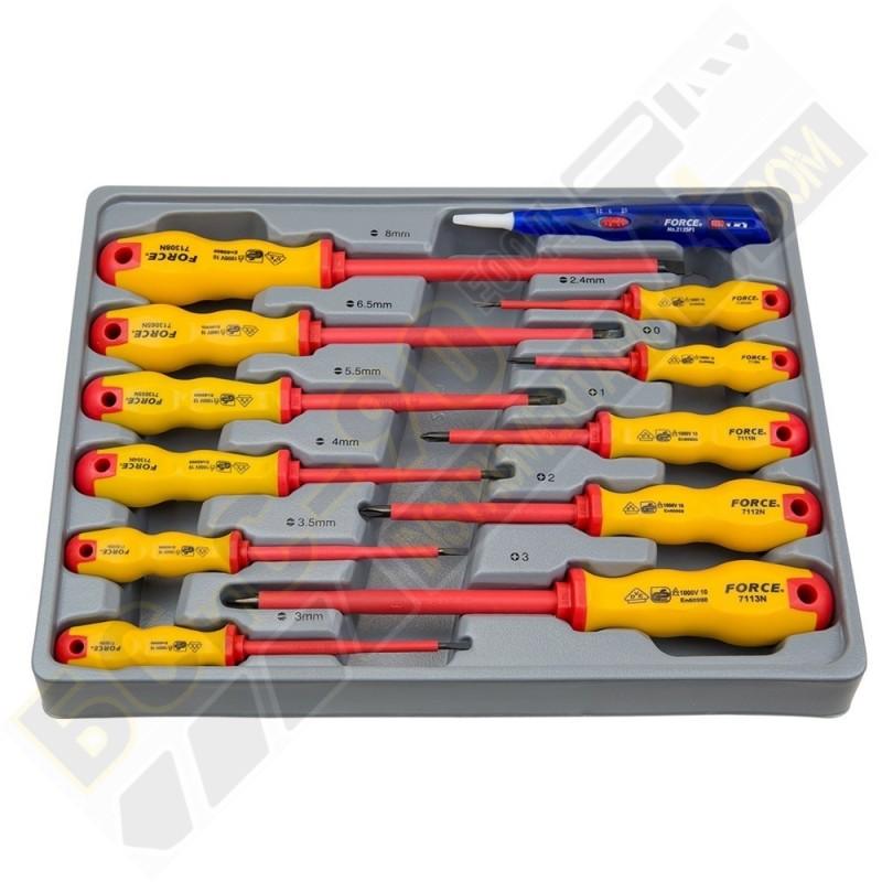 Комплект отвертка електрически 12 части - 2125
