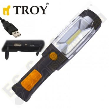 Акумулаторна работна лампа (фенер) TROY - 28055