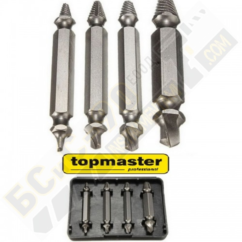 Шпилковадач (екстрактор) комплект 4 бр - Topmaster - 339701
