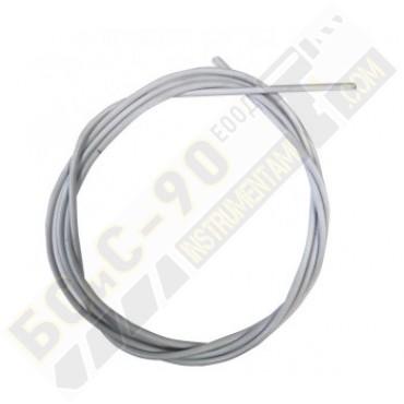 Броня за шланг на телоподаващо бяла метална Ф 0.6мм - Ф 0,8мм - 4.5М