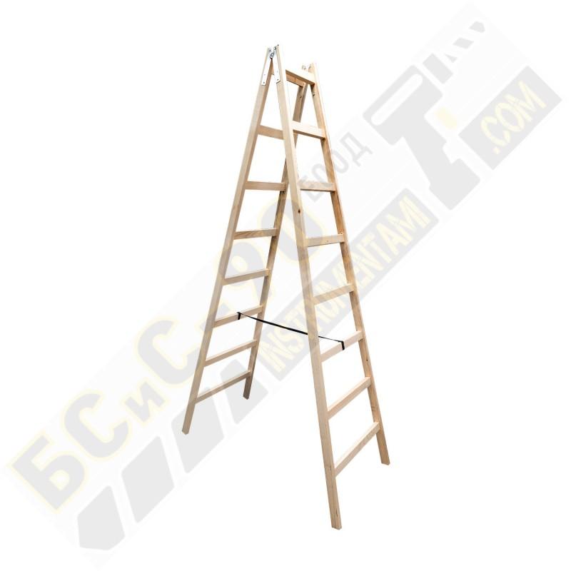 Стълба дървена - 2м