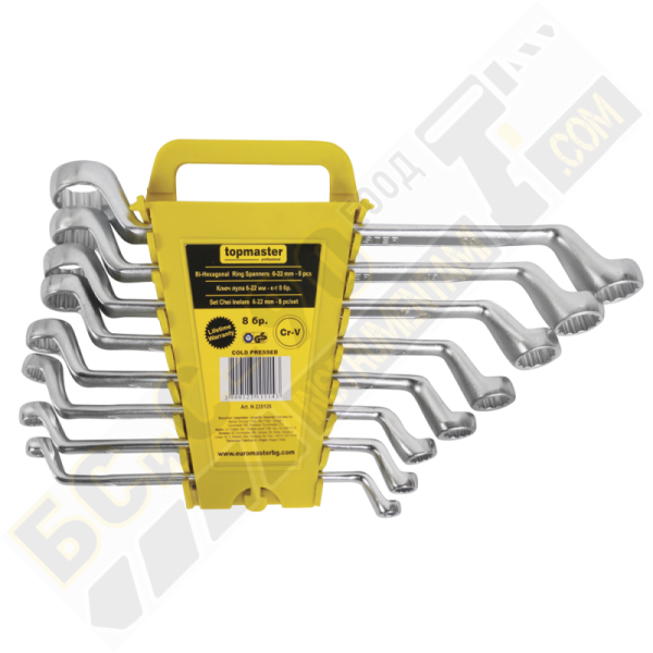 Ключове Лула Cold Stamped Усилени 6-22 мм - комплект 8 бр - Topmaster - 235126