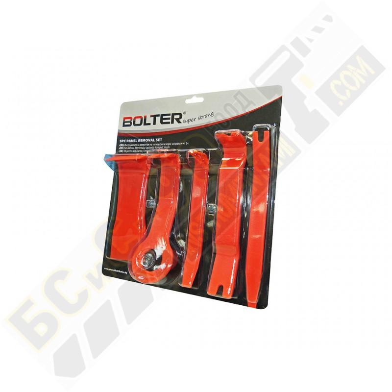 Инструменти за демонтаж на тапицерии и кори на врати 5 части - Bolter - XG53867
